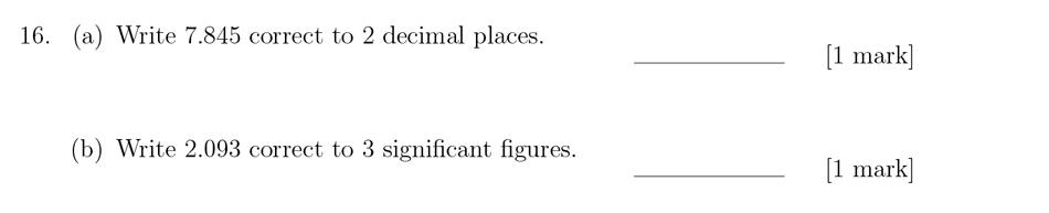 Sevenoaks School - Year 9 Maths Sample Paper 2018 Question 22