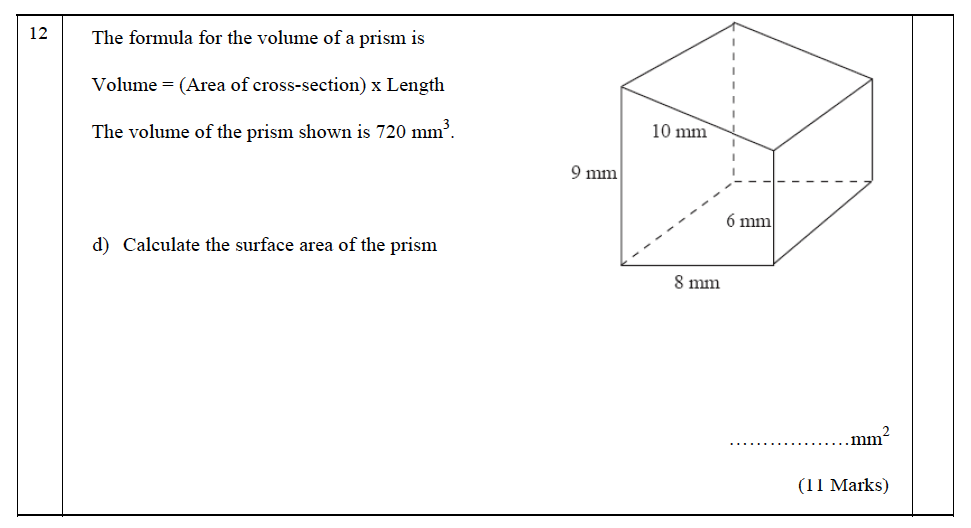 The John Lyon School - 13 Plus Maths Entrance Exam 2011 Question 18