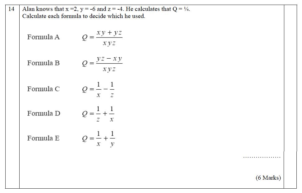 The John Lyon School - 13 Plus Maths Entrance Exam 2011 Question 20