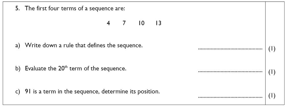 The John Lyon School - 13 Plus Maths Sample Paper Question 06