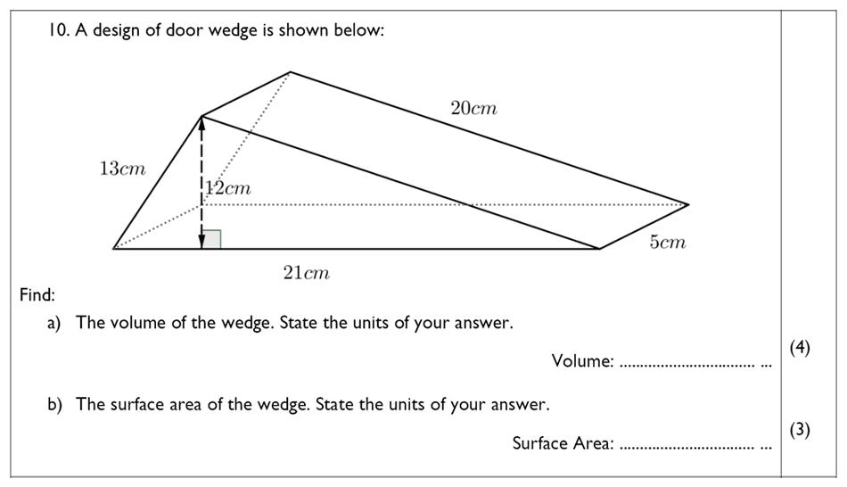 The John Lyon School - 13 Plus Maths Sample Paper Question 12