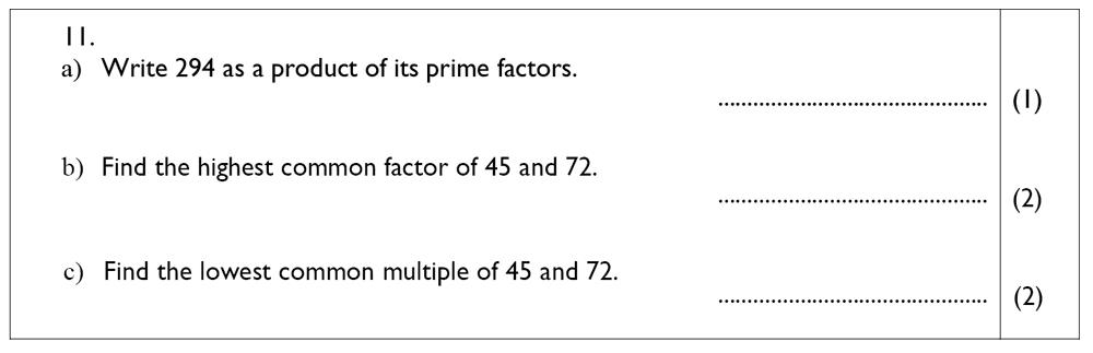 The John Lyon School - 13 Plus Maths Sample Paper Question 13