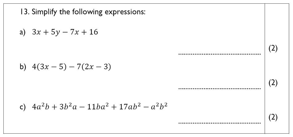 The John Lyon School - 13 Plus Maths Sample Paper Question 15