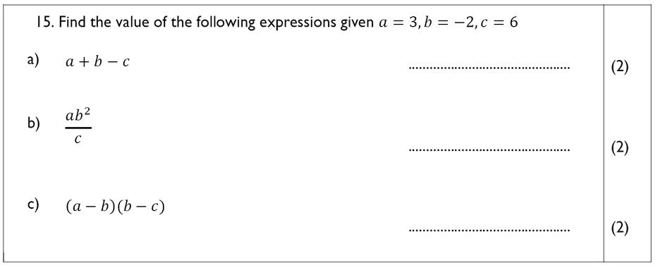 The John Lyon School - 13 Plus Maths Sample Paper Question 17