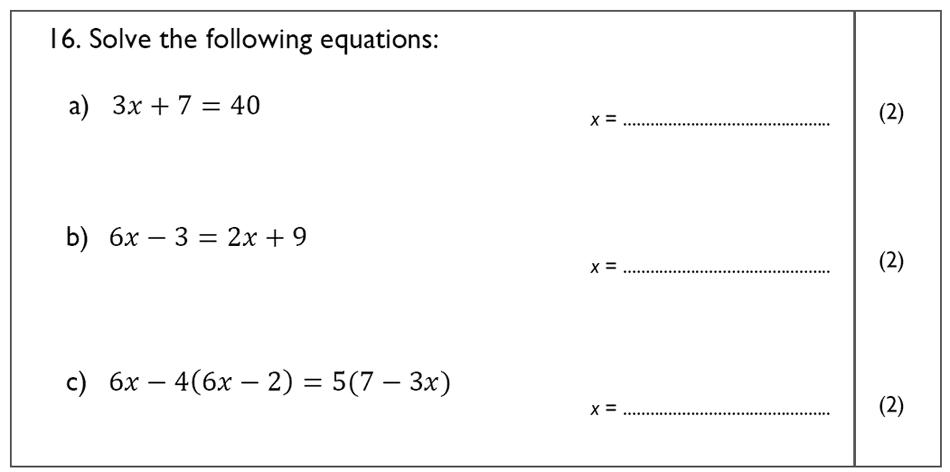 The John Lyon School - 13 Plus Maths Sample Paper Question 18