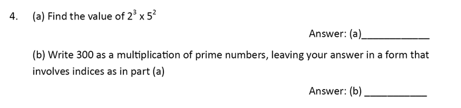 The Perse Upper School - Year 9 Maths Specimen Paper 1 Question 04