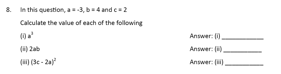 The Perse Upper School - Year 9 Maths Specimen Paper 1 Question 08