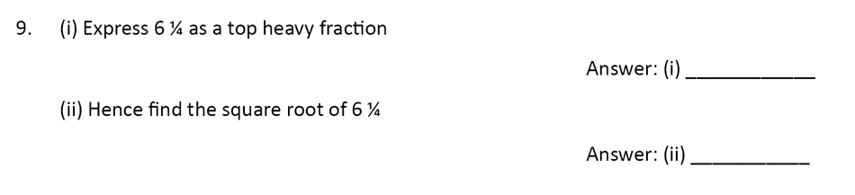 The Perse Upper School - Year 9 Maths Specimen Paper 1 Question 09