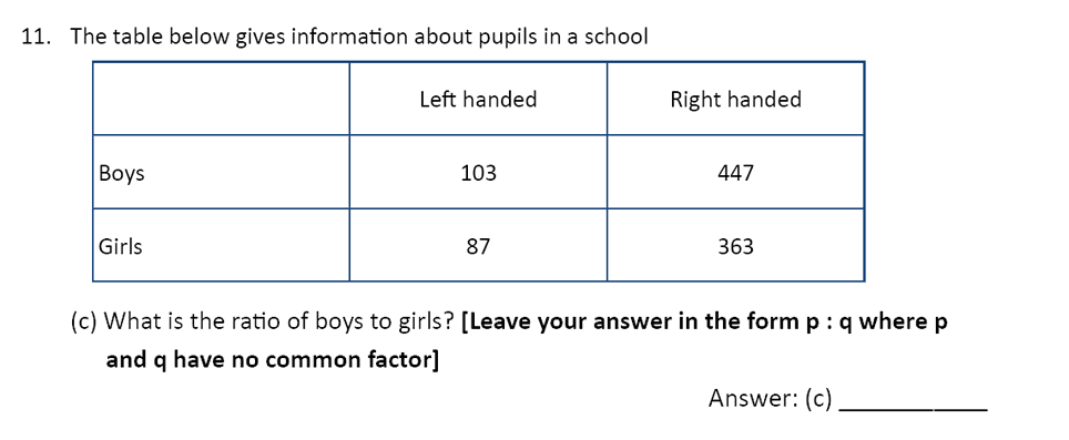 The Perse Upper School - Year 9 Maths Specimen Paper 1 Question 12