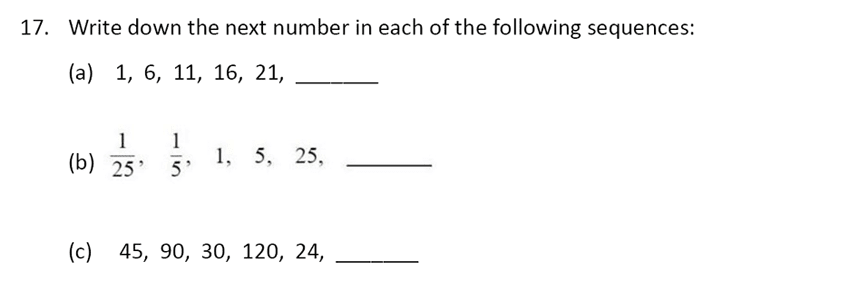 The Perse Upper School - Year 9 Maths Specimen Paper 1 Question 19