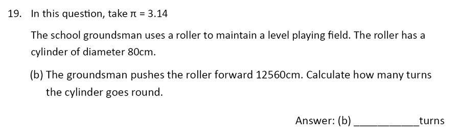 The Perse Upper School - Year 9 Maths Specimen Paper 1 Question 22