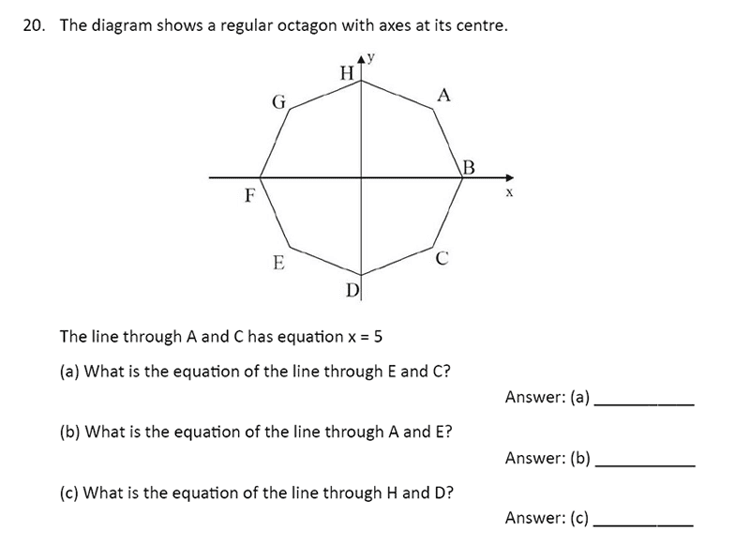 The Perse Upper School - Year 9 Maths Specimen Paper 1 Question 23