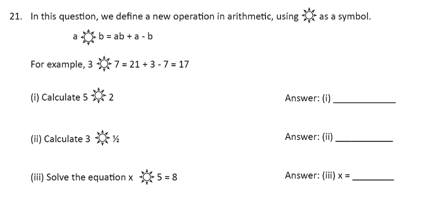 The Perse Upper School - Year 9 Maths Specimen Paper 1 Question 24