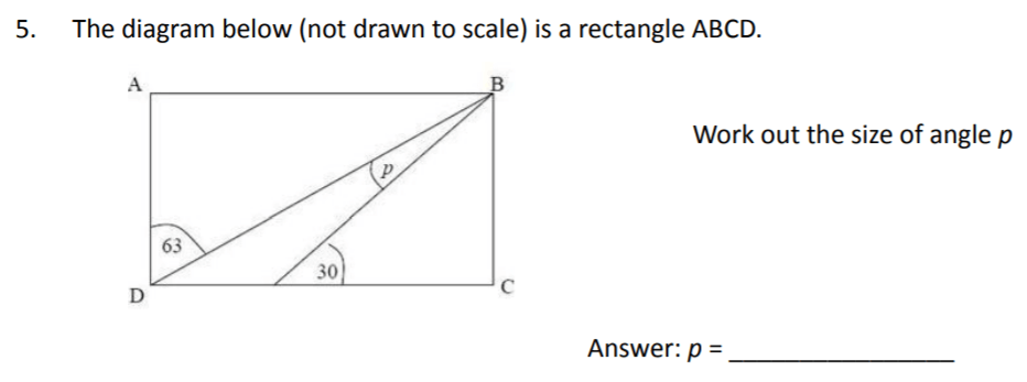 The Perse Upper School - Year 9 Maths Specimen Paper 2 Question 05