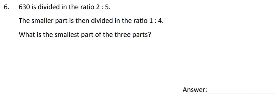 The Perse Upper School - Year 9 Maths Specimen Paper 2 Question 06