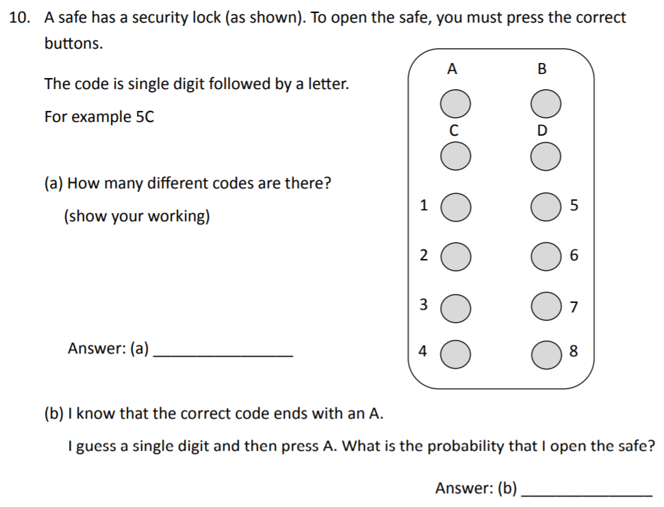 The Perse Upper School - Year 9 Maths Specimen Paper 2 Question 10