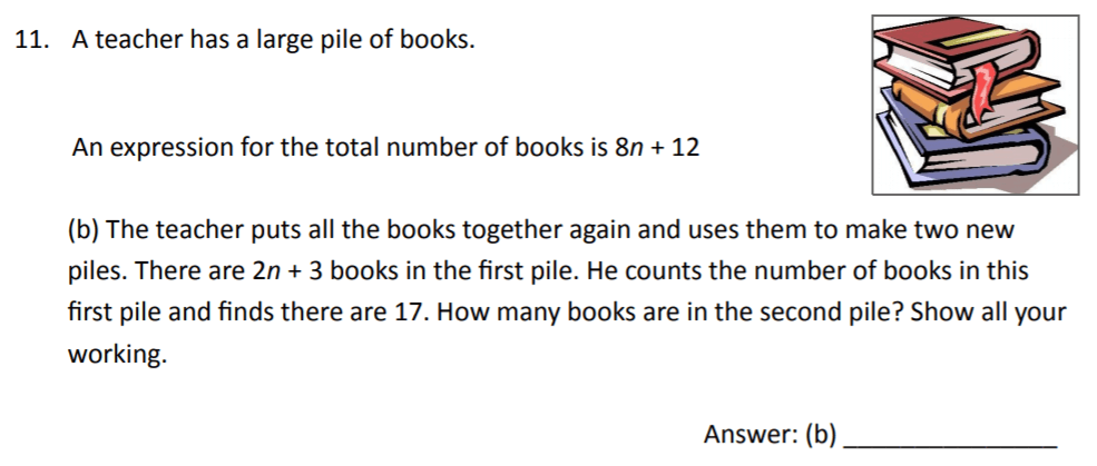 The Perse Upper School - Year 9 Maths Specimen Paper 2 Question 12
