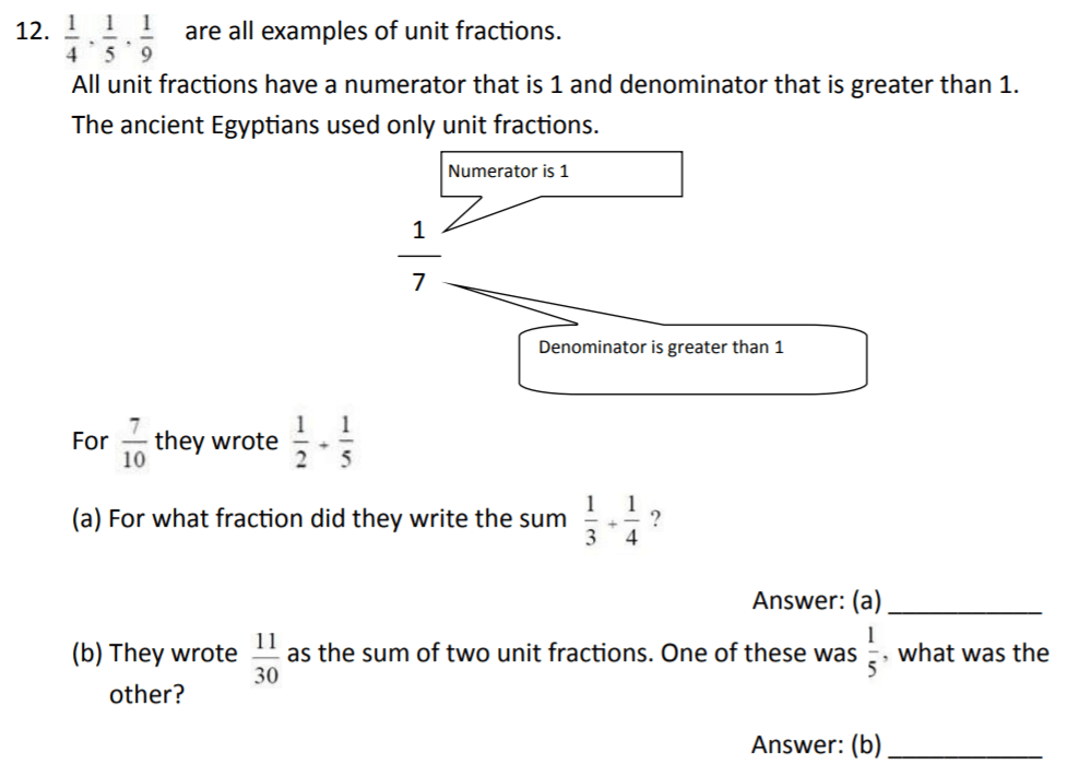 The Perse Upper School - Year 9 Maths Specimen Paper 2 Question 13