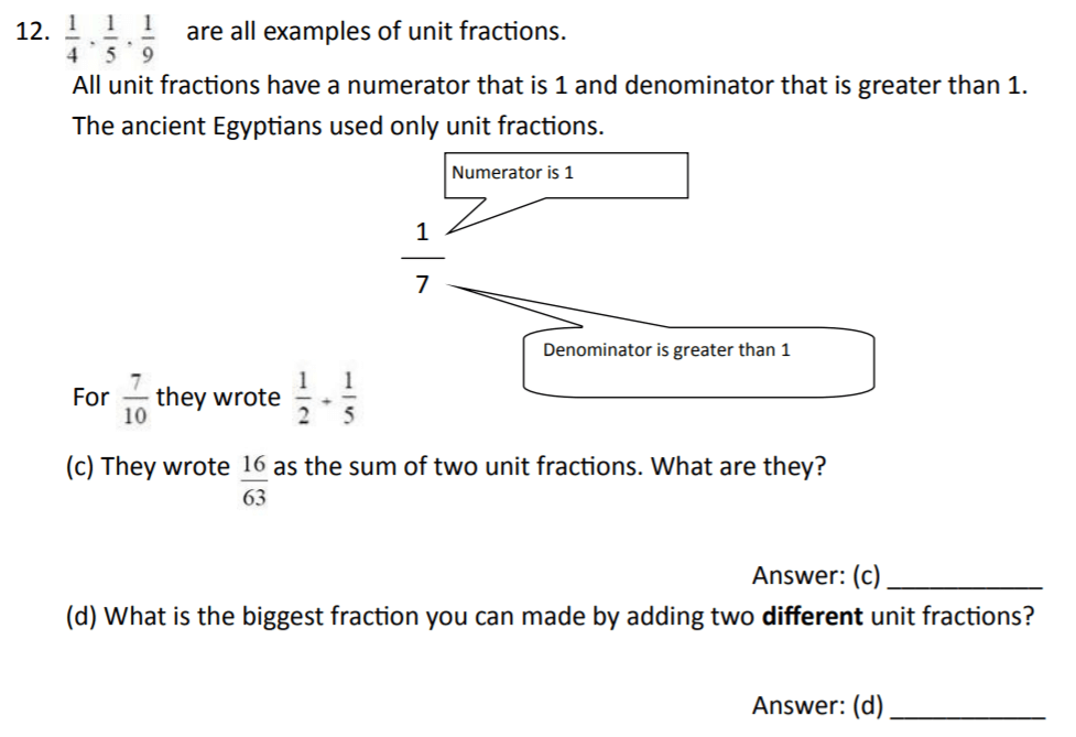 The Perse Upper School - Year 9 Maths Specimen Paper 2 Question 14