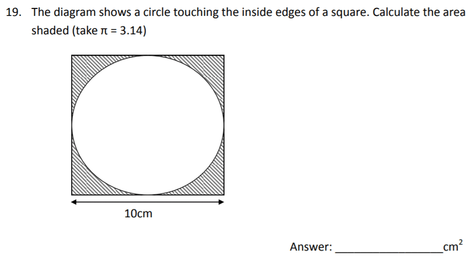 The Perse Upper School - Year 9 Maths Specimen Paper 2 Question 21