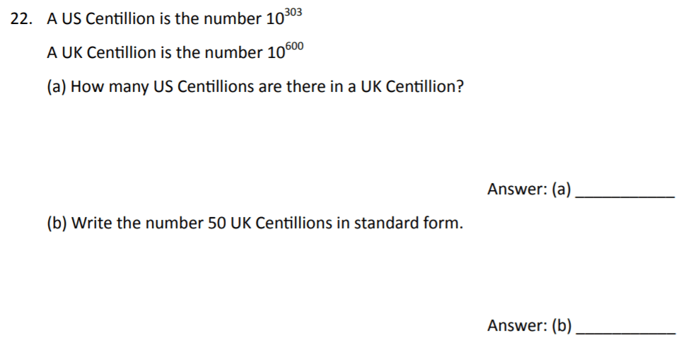 The Perse Upper School - Year 9 Maths Specimen Paper 2 Question 24