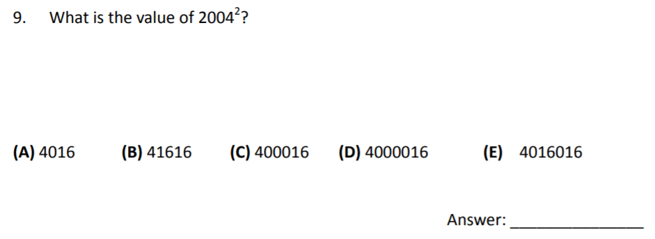 The Perse Upper School - Year 9 Maths Specimen Paper 3 Question 09