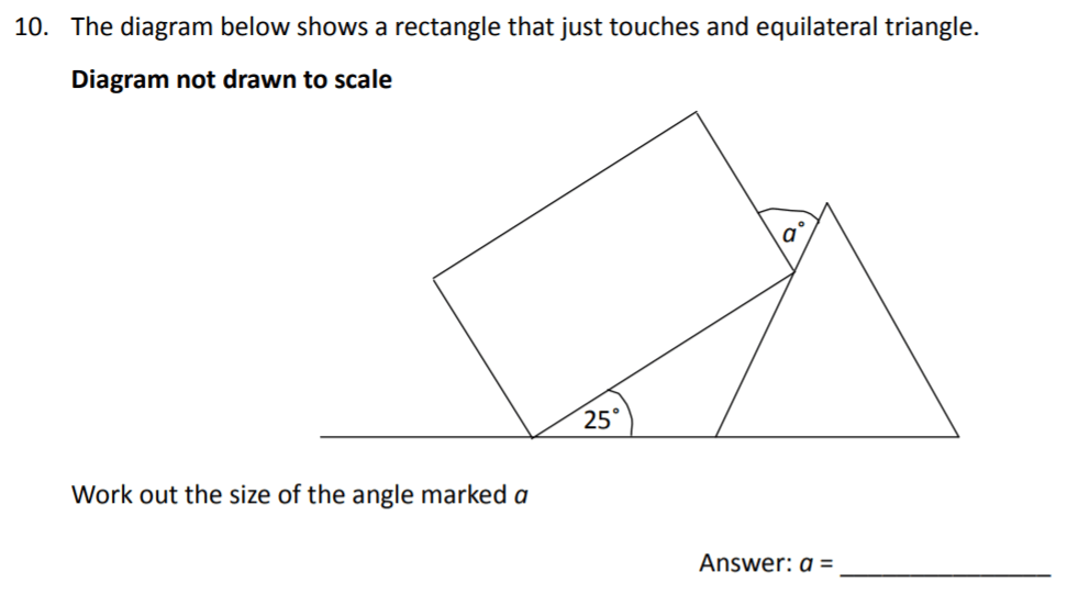The Perse Upper School - Year 9 Maths Specimen Paper 3 Question 10
