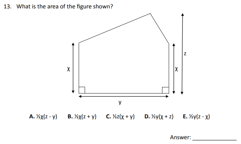 The Perse Upper School - Year 9 Maths Specimen Paper 3 Question 13