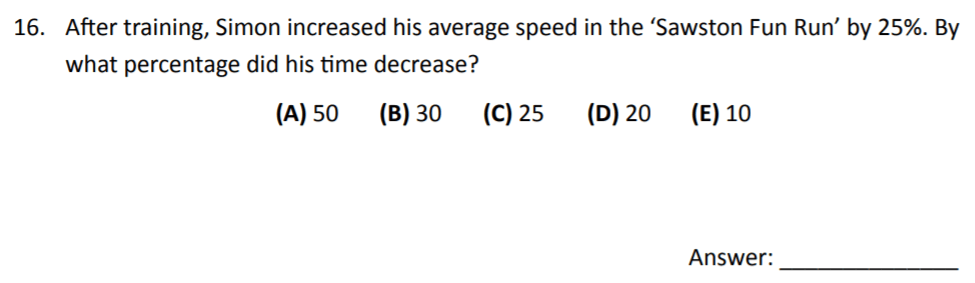 The Perse Upper School - Year 9 Maths Specimen Paper 3 Question 16