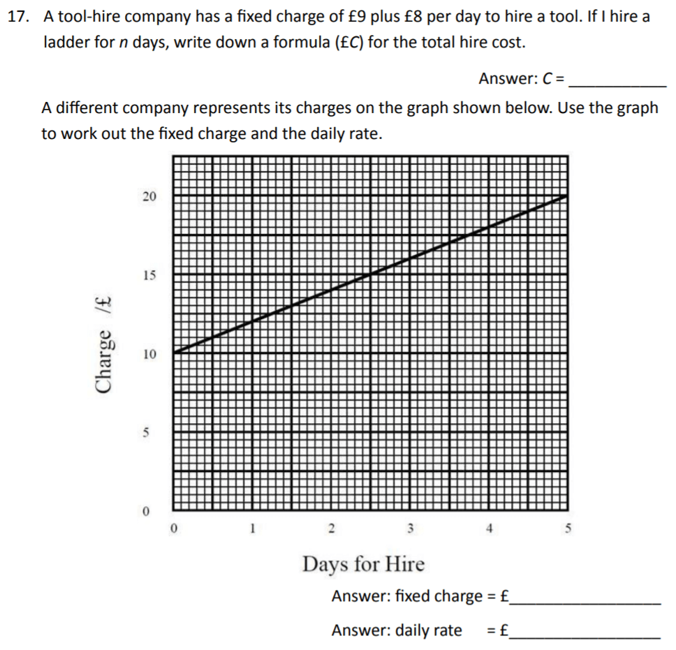 The Perse Upper School - Year 9 Maths Specimen Paper 3 Question 17