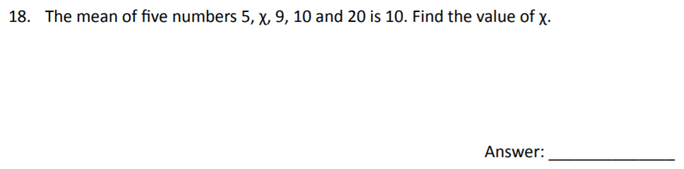 The Perse Upper School - Year 9 Maths Specimen Paper 3 Question 18