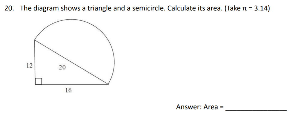 The Perse Upper School - Year 9 Maths Specimen Paper 3 Question 20