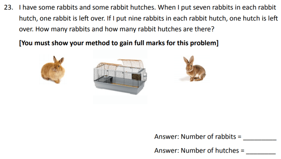 The Perse Upper School - Year 9 Maths Specimen Paper 3 Question 24