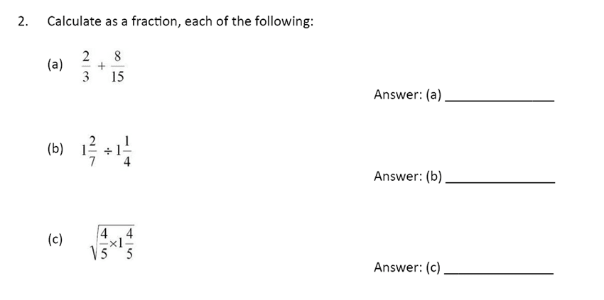 The Perse Upper School - Year 9 Maths Specimen Paper 4 Question 02