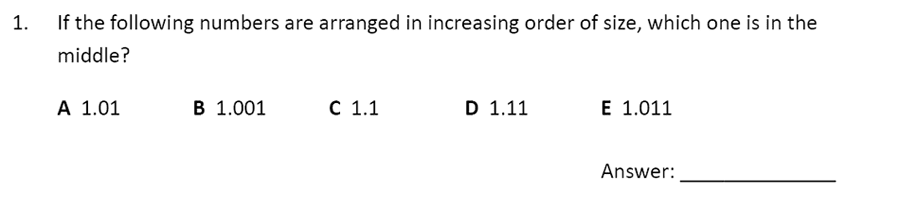 The Perse Upper School - Year 9 Maths Specimen Paper 5 Question 01