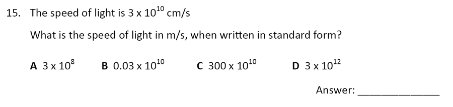 The Perse Upper School - Year 9 Maths Specimen Paper 5 Question 16