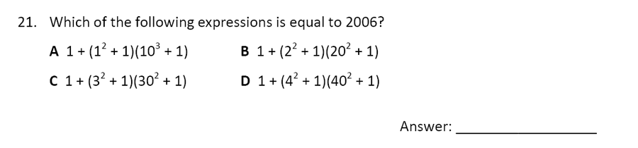 The Perse Upper School - Year 9 Maths Specimen Paper 5 Question 23