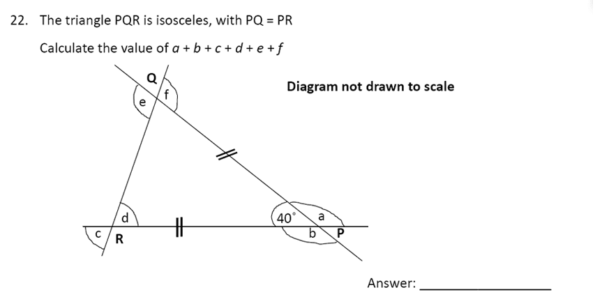 The Perse Upper School - Year 9 Maths Specimen Paper 5 Question 24