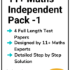 11+ Maths Independent Practice Papers Pack 1
