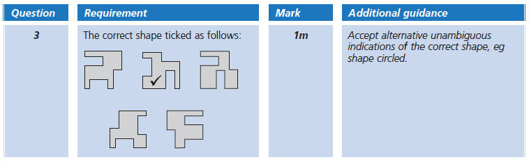 Answer 03 Maths KS2 SATs Papers 2005 - Year 6 Sample Paper 2, Geometry, 2D shapes, Rotations