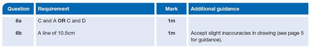 Answer 06 Maths KS2 SATs Papers 2013 - Year 6 Sample Paper 2, Measurement, Ruler Measurement