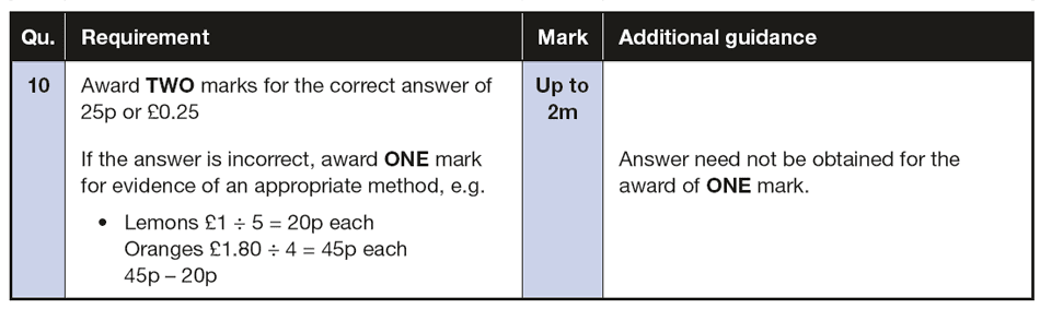 Answer 10 Maths KS2 SATs Papers 2016 - Year 6 Practice Paper 3 Reasoning, Numbers, Multiplication, Subtraction, Word Problems, Money