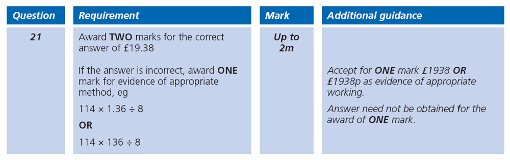 Answer 21 Maths KS2 SATs Papers 2007 - Year 6 Practice Paper 2, Numbers, Division, Decimals, Word Problems