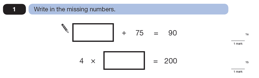 Question 01 Maths KS2 SATs Papers 2007 - Year 6 Past Paper 1, Numbers, Division, Subtraction