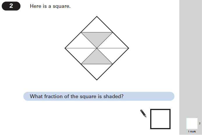 Question 02 Maths KS2 SATs Papers 2004 - Year 6 Exam Paper 1, Numbers, Fractions, Geometry, Square