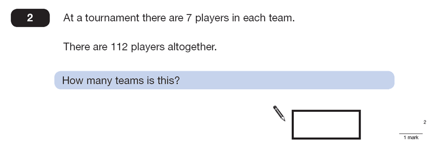 Question 02 Maths KS2 SATs Papers 2013 - Year 6 Sample Paper 2, Numbers, Division, Word Problems