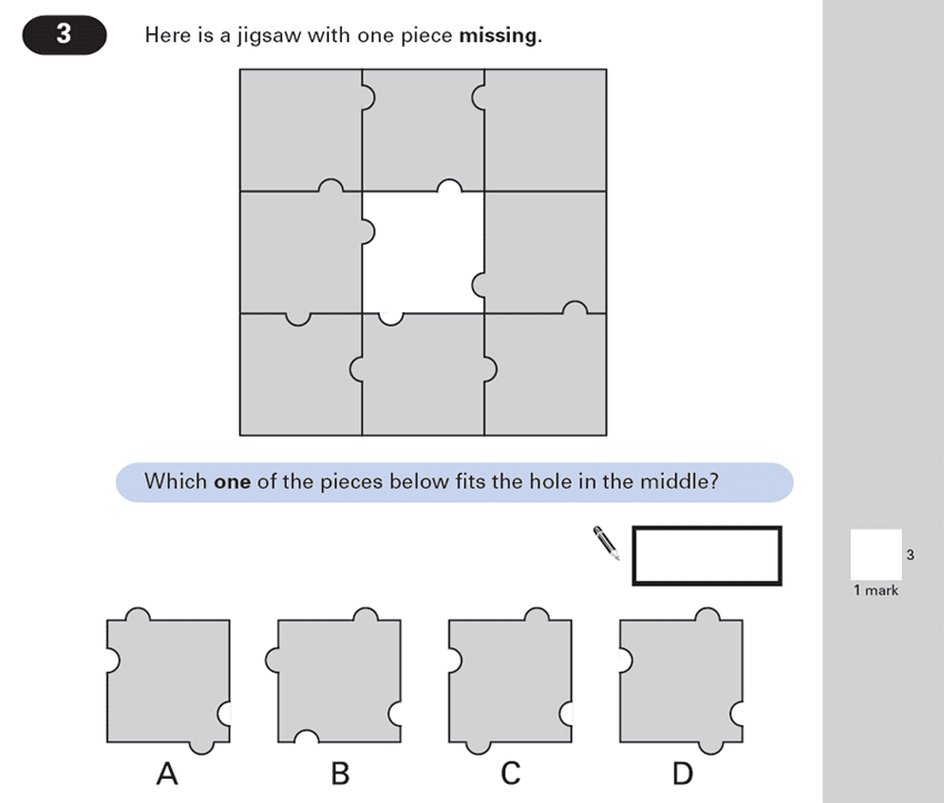 Question 03 Maths KS2 SATs Papers 2000 - Year 6 Sample Paper 1, Geometry, 2D shapes, Compound Shapes