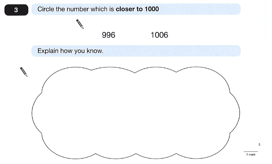 Question 03 Maths KS2 SATs Papers 2012 - Year 6 Practice Paper 1, Numbers, Order and Compare Numbers