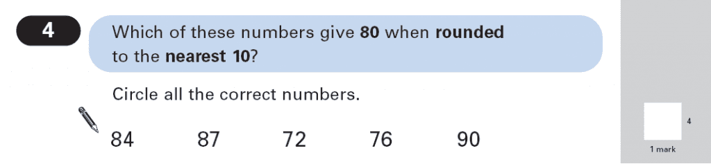Question 04 Maths KS2 SATs Papers 2003 - Year 6 Practice Paper 1, Numbers, Rounding