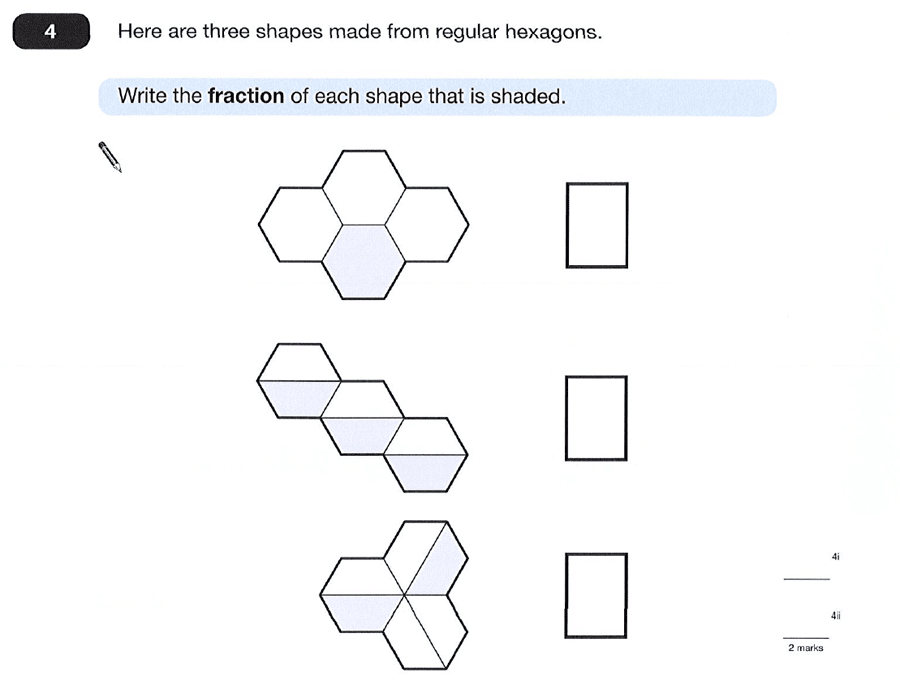 Question 04 Maths KS2 SATs Papers 2012 - Year 6 Exam Paper 2, Numbers, Fractions, Geometry, 2D shapes